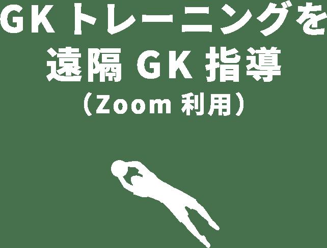 GKトレーニングを遠隔GK指導(Zoom利用)